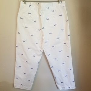 Talbots doggy white pants.